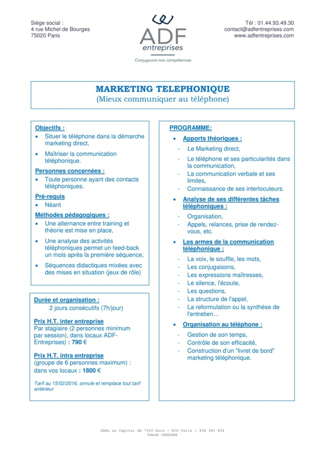 Marketing téléphonique